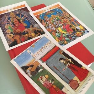 3 Indian Themed Postcards